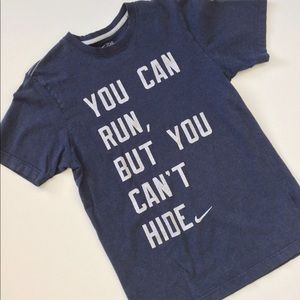 Nike Graphic T-shirt Unisex Blue and Gray